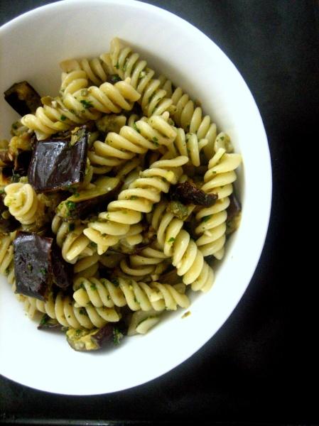 Eggplant pasta salad 2