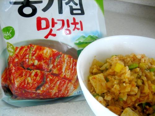 kimchi and rice
