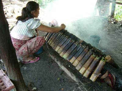 stickyrice in bamboo