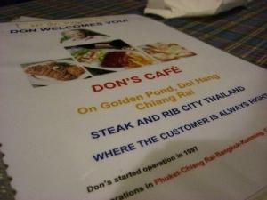 dons menu